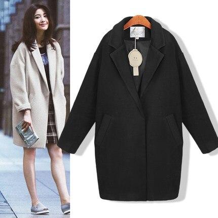 2017 Hot sale Cocoon coat women coat female overcoat female spring autumn slim blend woolen coat