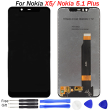 Original For Nokia X5 LCD Display Touch Screen Digitizer Assembly LCD Digitizer Touch Screens Repair Parts for nokia 5.1 Plus стоимость