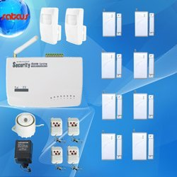 8 Door Sensors Home Alarm Systems GSM Tri-Band Frequency SMS&Voice Alert Wireless Burglar Auto Dial Security Alarm sg-122