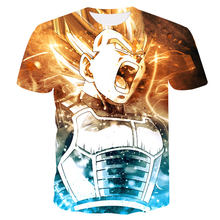 2018 Dragon Ball T shirt 3D Men T-shit Anime T-shirt harajuku Comics Tops Goku Ball Z printing Tee fashion stranger things S-4XL(China)
