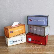 Vintage Container Tissue Box Case Creative Iron Removable Seat Type Napkin Holder Home Car Desktop Decor Figurines Gifts