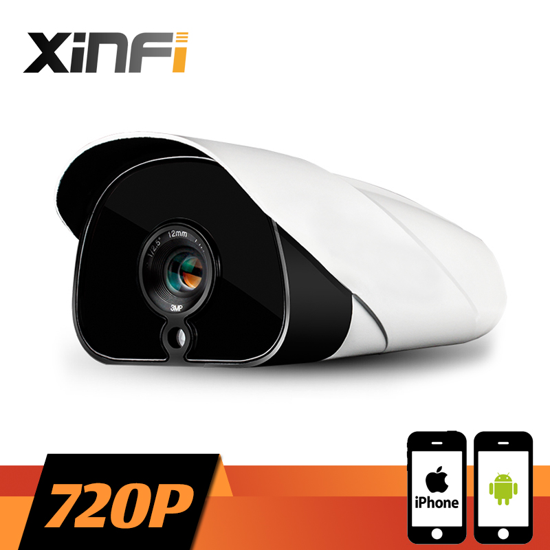 XINFI HD CCTV camera 1.0 MP night vision Outdoor Waterproof network 1280*720P CCTV IP camera P2P ONVIF 2.0 PC&Phone remote view