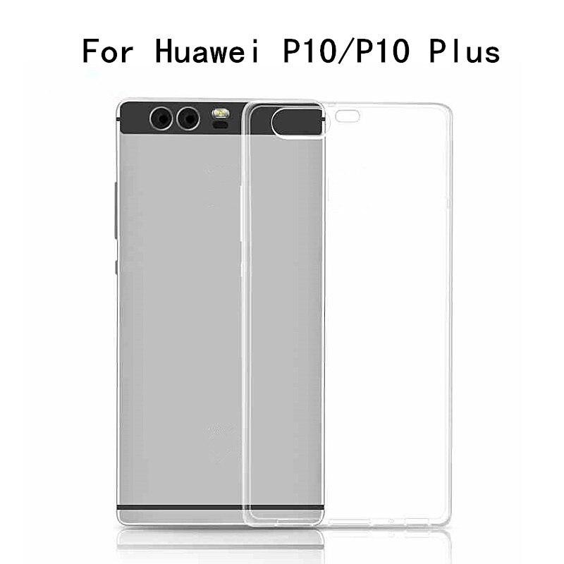 Кристалл мягкий прозрачный ТПУ Силиконовая резина кожи гель ультра тонкий чехол для Huawei p10 p10 плюс