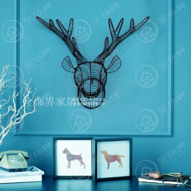 Aliexpress.com : Buy Metal wire wall art iron deer head wall ...
