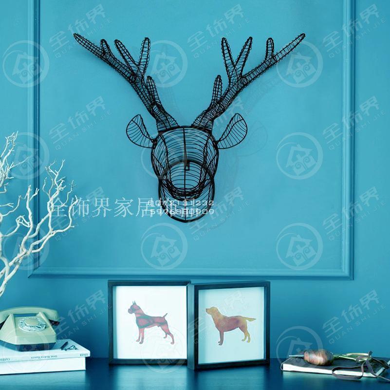 buy metal wire wall art iron deer head. Black Bedroom Furniture Sets. Home Design Ideas