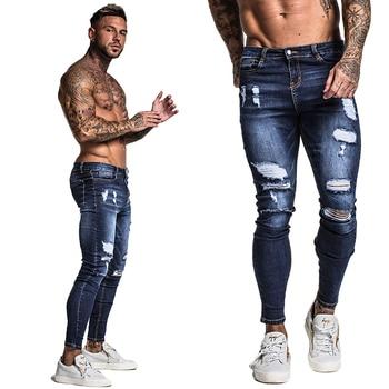 Ripped Stretch Blue Jean 1