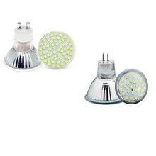 Led spotlight gu10 mr16 mr111 220 v 3 w 5 w luzes led lâmpadas de vidro corpo ponto lâmpada lampada iluminação led