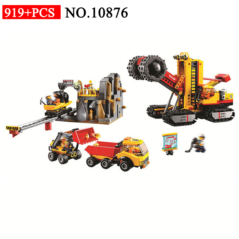 BELA 10876 919pcs City Mine Mobile Laboratory Giant Crusher Dump Truck Building Blocks Compatible 60187 Brick Toys For ChildrenBELA 10876 919pcs City Mine Mobile Laboratory Giant Crusher Dump Truck Building Blocks Compatible 60187 Brick Toys For Children