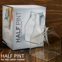 High borosilicate glass Creative Cup Heat-resisting Fred And Friends Half Pint Creamer Calf Half Mini Carton Creamer Milk Mug stelton cylinda line by arne jacobson creamer 0 15l