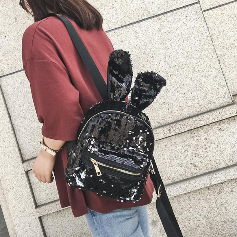 maison Backpacks high quality leather Fashion Girls Sequins Backpack Leisure School Travel Pack backpack women 2018MA9