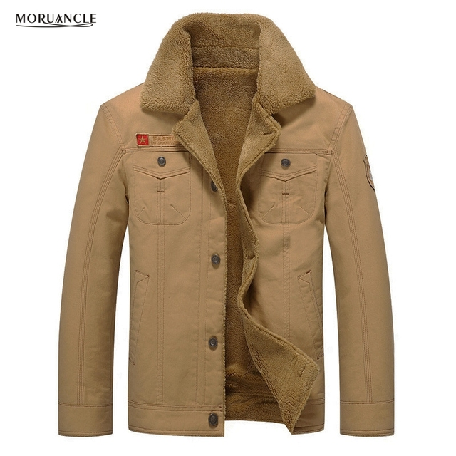 Gefüttert Warme 40Off Us39 Plus Mantel Wolle Winter Männer Bomber Masculino Fleece Stil 39 Casaco Größe Dicke moruancle Männlichen Jacken Military xoedCB