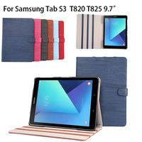 High Quality Wood Grain Pattern PU Leather Case For Sasmung Galaxy Tab S3 9 7 T820