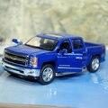 Новое KINGSMART 1/46 вагон-весов конструкторы Chevrolet Silverado пикап литья под давлением металл отступить игрушечную машинку для подарка / коллекция