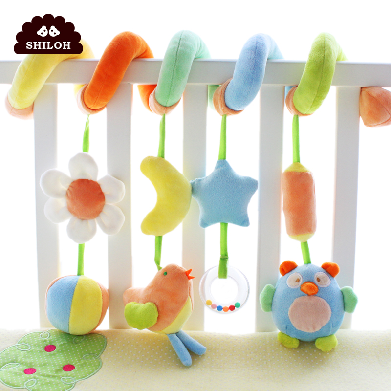 SHILOH Kawaii lovely Baby Toy multifunctional Educational Toys For Kids Newborn Mobile Baby Rattles Bed Around Infant Stroller
