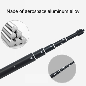 Image 3 - New 3m Aluminum Alloy Pole Super Long Telescopic Selfie Stick For Insta360 ONE R X For GoPro Hero 9 8 7 6 5 Max Accessories