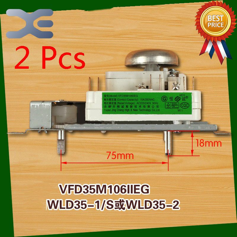 2Pcs Microwave Oven Timer Timer Oven VFD35M106IIEG WLD35-1/S WLD35-2/S Microwave Spare Parts