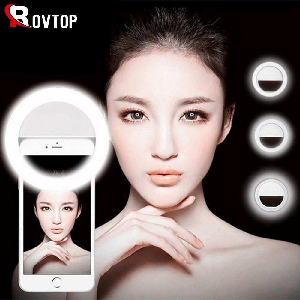 Универсальная лампа для селфи, портативное кольцо для вспышки с 36 светодиодами, светящееся кольцо с зажимом для iPhone 8, 7, 6 Plus, Samsung