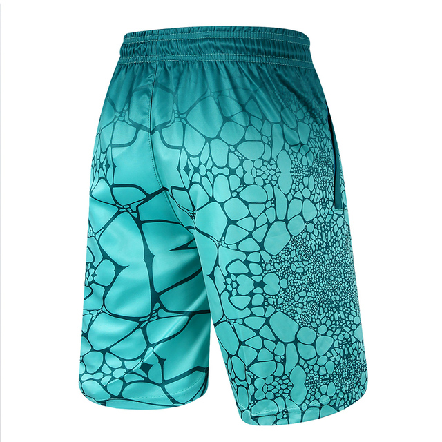 High Quality Men Casual Shorts Polyester Digital Print Man Bermuda Shorts With Zipper Pocket Knee Length Trousers Male