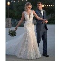 LORIE 2019 летние свадебные платья Русалочки Кружевные Аппликации Свадебные платья кружевные свадебные платья на заказ большие размеры