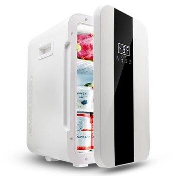 Portatile 22L Mini Frigorifero Dual-core 12 v/220 v Sia in Auto A Casa Mini Frigo Dispositivo di Raffreddamento Scatola di Mini frigo per Bere il Latte Del Bambino