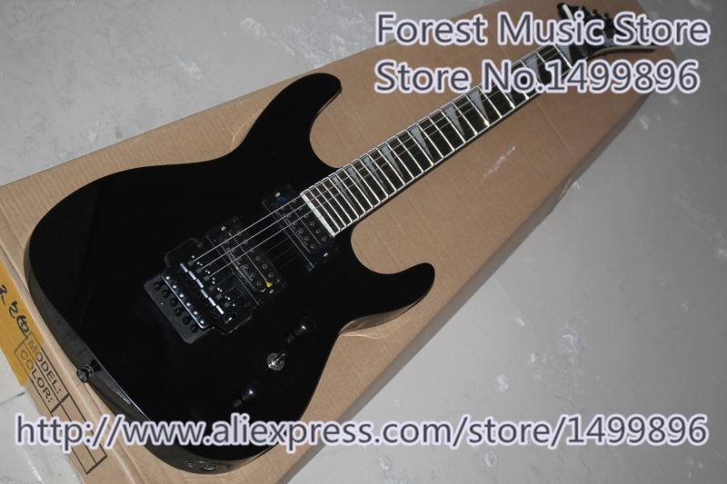 все цены на New Arrival Black Glossy Finish Jackson Electric Guitars With Black Floyd Rose Tremolo In Stock