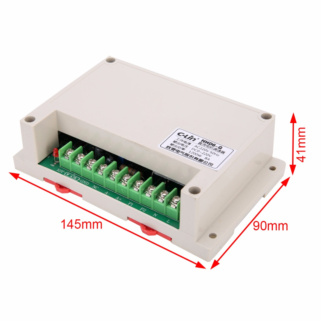 1Pcs HHD6-G Motor Speed Controller Input AC220V Output DC 0-220V 1200W -10~+65 C Mayitr Speed Controller for J-SZ KC50 Motor