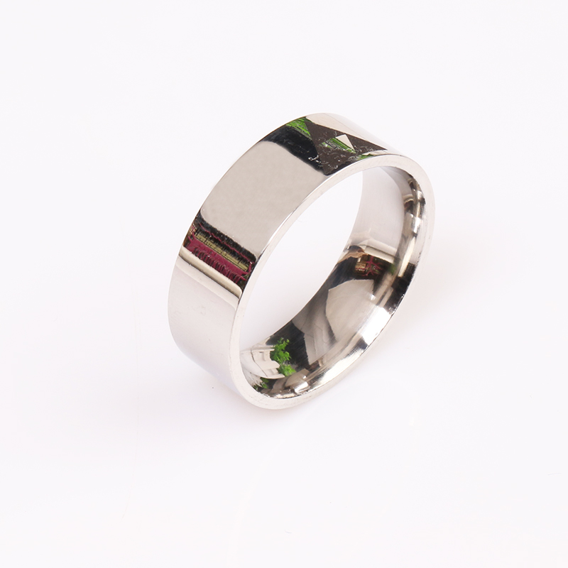 rongji jewelry Shiny Silver Bevel LEGEND Of ZELDA Triforce