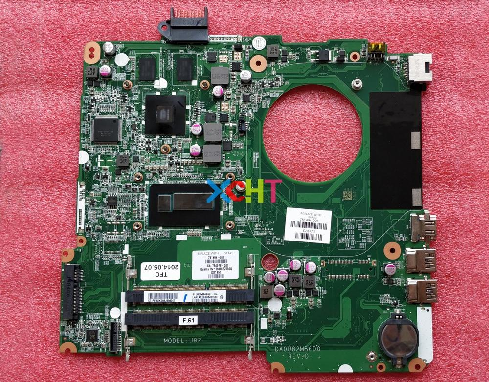 for HP Pavilion 15 N Series 15T N200 751494 001 751494 501 751494 601 DA0U82MB6D0 I5 4200U 840M/2G Motherboard Mainboard Tested-in Laptop Motherboard from Computer & Office