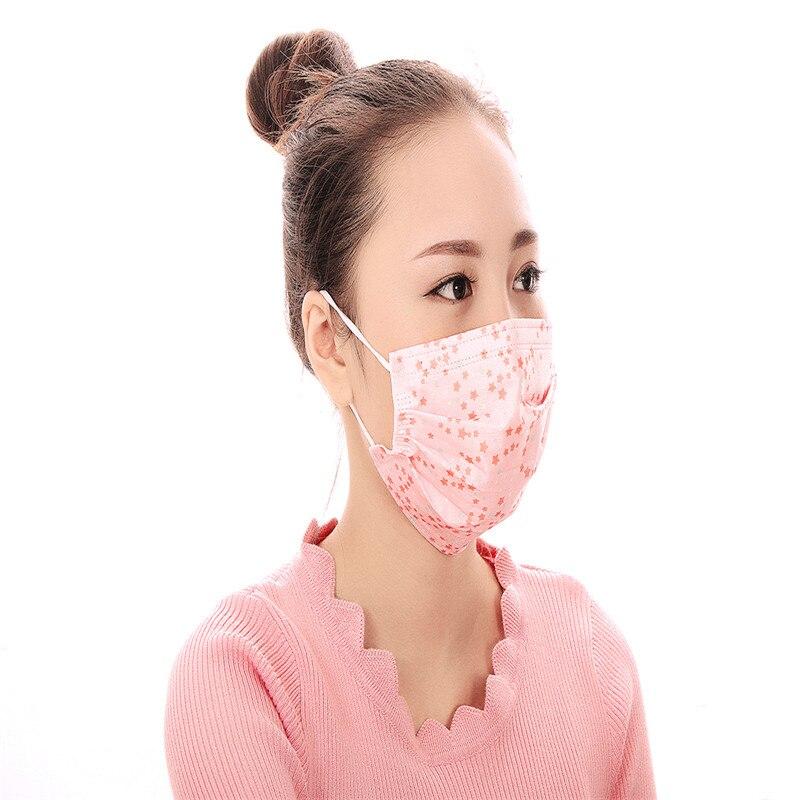 Masken 50 Teile/beutel Einweg Masksanti-dunst Anti-pm2.5 Masken Ein-zeit Masken Weiblich Männlich Masken Staub Drei Dick Fabrik Outlet Damen-accessoires