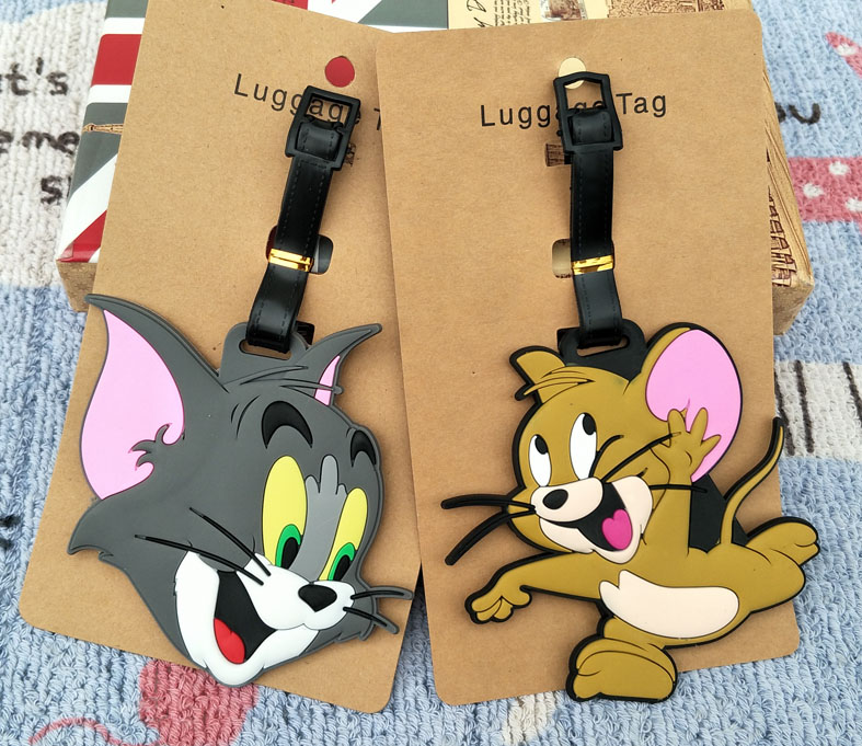 IVYYE Tom And Jerry Anime Travel Accessories Luggage Tag Suitcase ID Address Portable Tags Holder Baggage Labels New
