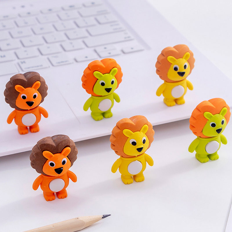 Little Lion Rubber Eraser School Office Supplypupil Prize Stationery Eraser For Children Kids Gift Eraser