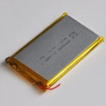 1-2 шт. 3,7 В литий-ионный полимерный аккумулятор 10000 мАч 1065113 LIPO литий-ионный аккумулятор для E-Book gps DVD Мощность банк Tablet PC