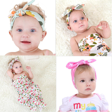 Flower Floral Hairband Turban Rabbit Bowknot Headband Headwear Hair Band  Girls Solid Knot Hair Accessories for Kids