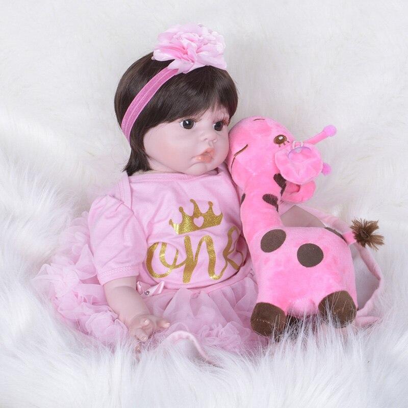 все цены на Silicone Reborn Dolls 55cm American Girls Bebe Reborn Silicone with Pricess Dress Children Toys SB5534 Dolls lol Kids Learning онлайн