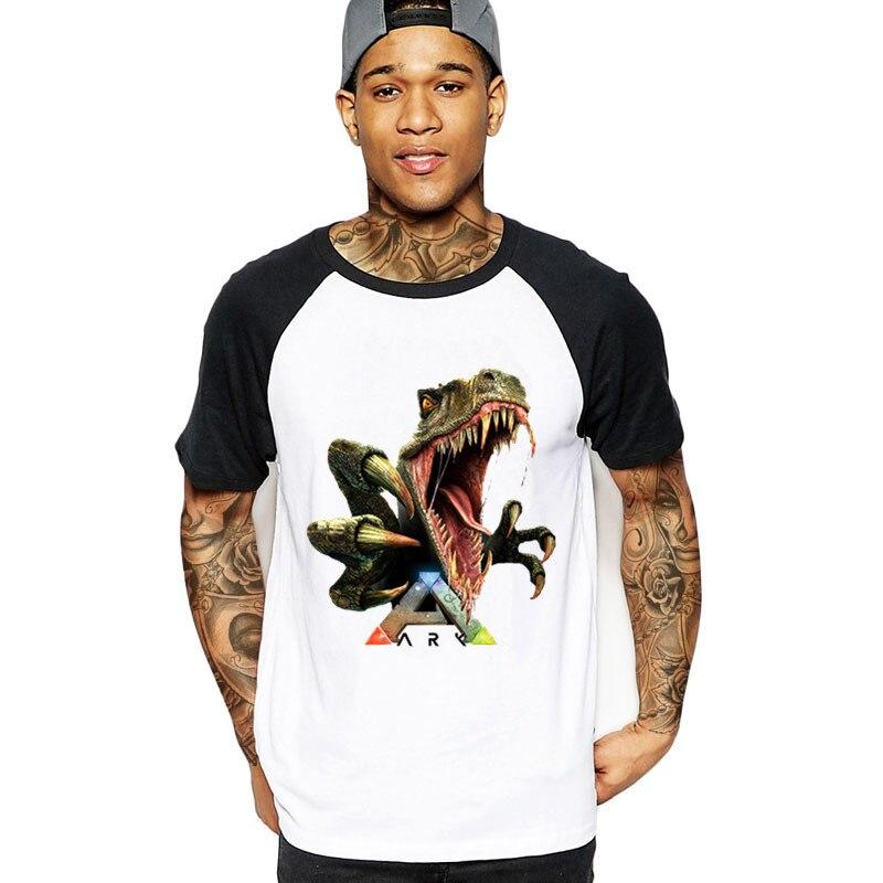 Streetwear Arche Survie Jeu Développé Hommes T-shirt Personnalité À Manches Courtes Mode Personnalisé grande taille 3XL Couple T-Shirt mâle t-shirt