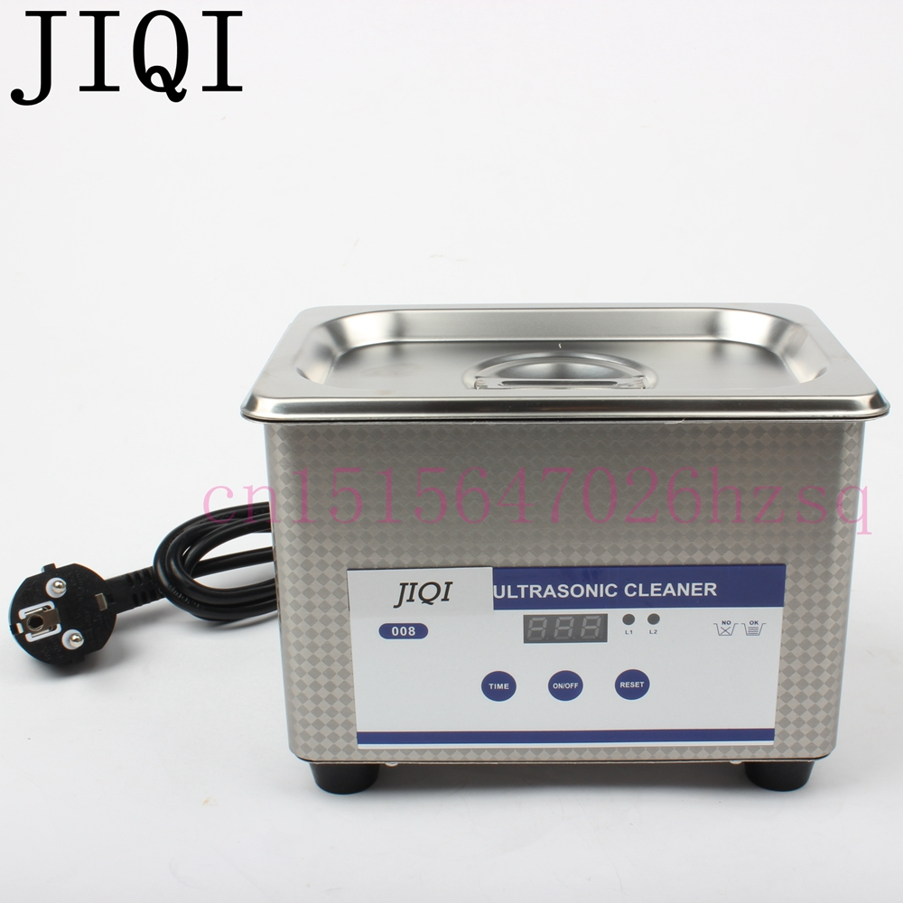 JIQI 0.8L 110V/220V Household Digital Ultrasonic Bath Small Cleaner for glasses jewelry machine Stainless steel liner free shipping 110v 220v k 105 0 6l digital ultrasonic bath small cleaner