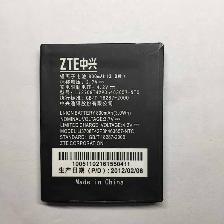 FOR ZTE N281 Li3709T42P3h463657 Phone Replacement Li-ion Batteria Battery 800mAh High Quality For ZTE N 281 Battery
