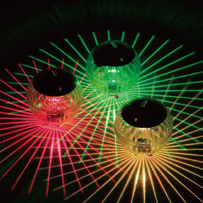 Solar Powered Water Drift Lamp Multi-color Underwater Swimming Pool Fountain Lake Decoration Light Garden Yard LED Disco Light