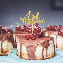 10PCS/bag Islam Eid Mubarak Ramadan Wedding Cupcake Topper Muslim Islam Baking Decor Kitchen Cake Tool islam