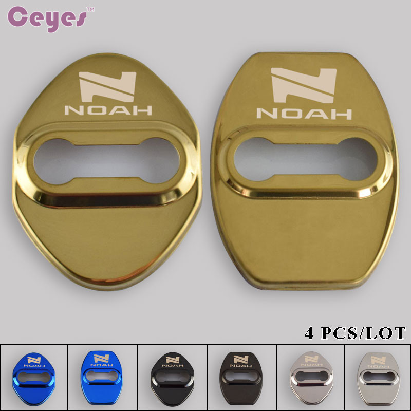 Ceyes Door Lock Decoration Protection Cover Car Emblem Car Styling Case For Toyota Noah Corolla Avensis Accessories Car-Styling