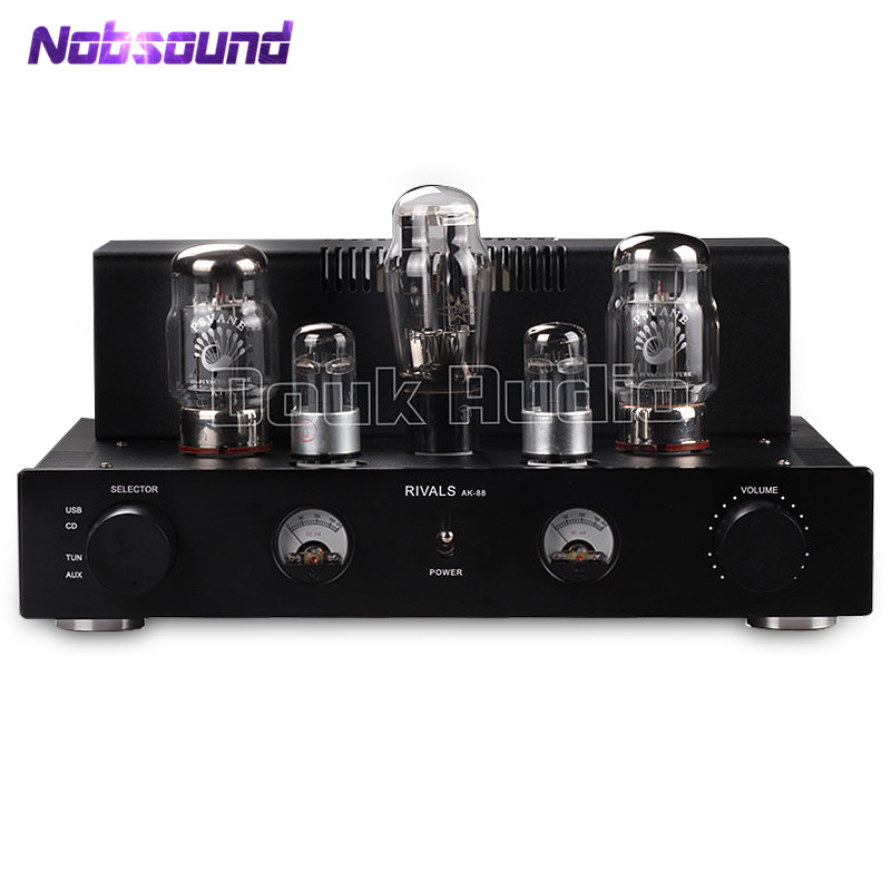Nobsound KT88 Tube Amplifier HiFi Single-ended Class A Power Amplifier With USB decoding Upgrading of Computer Sound Card 2017 new nobsound hifi mini microphone preamplifier music sound card recording mic amplifier