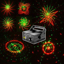 цена на Mini Disco Light Laser Projector Music Center Equipment 20 Patterns Party Lights Dance Machine Voice-activated Flash Effect