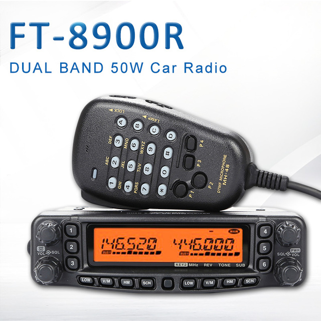 General yaesu FT 8900R ft 8900r profissional carro móvel rádio em dois sentidos/transceptor de carro walkie talkie interphone