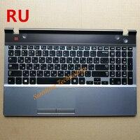 Russische neue laptop tastatur mit touchpad palmrest für samsung NP550P5C 550P5C ru layout|Ersatz-Tastaturen|   -