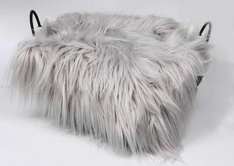 Faux Fur Blanket Basket Stuffer Mongolia Fur Photography Props Newborn Photography Props Fur wool Mat Background carpet Blanket