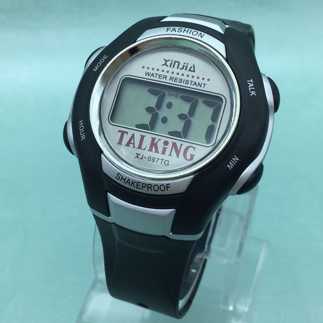 Deutsch Talking Watch for Blind People or Visually Impaired People with Alarm, Sports Wristwatch