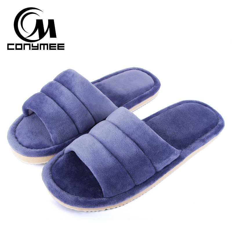 33808d4d58d5c Winter Men Slippers 2018 Warm Indoor Home Sneakers Casual Shoes For Mens  Soft Flock Cotton Slipper