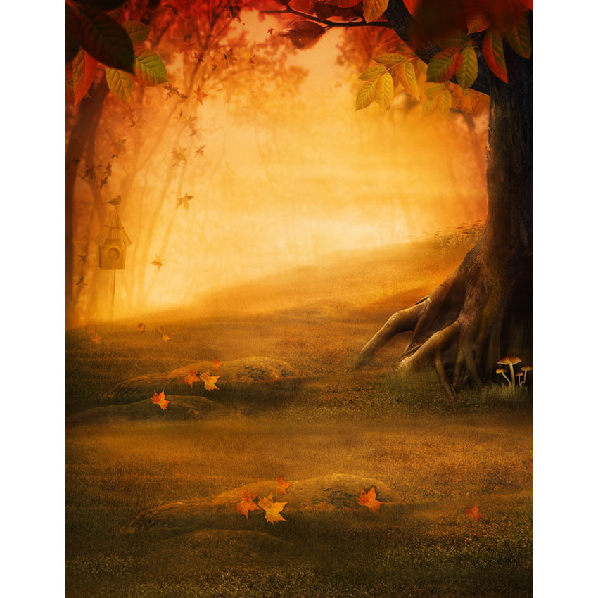 12 ft autumn fairyland gate photo studio backgrounds for children drama play backdrops made of wrinkle free cloth S-2274