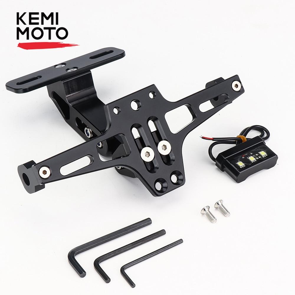 כורסאות טלויזיה לוחית הרישוי KEMiMOTO פנדר Eliminator אורות האות YAMAHA MT 07 MT07 FZ07 2014 2015 2016 2017 Bracket אופנוע מחזיק (1)