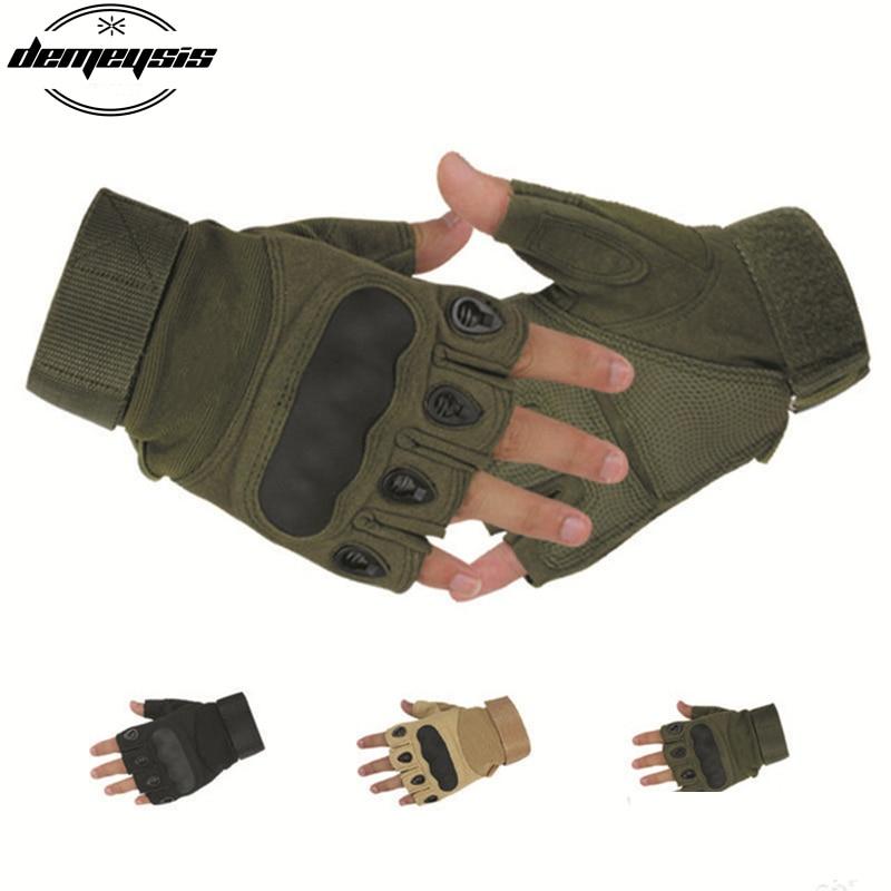 ᓂDeportes al aire libre militar ejército guantes sin dedos ...